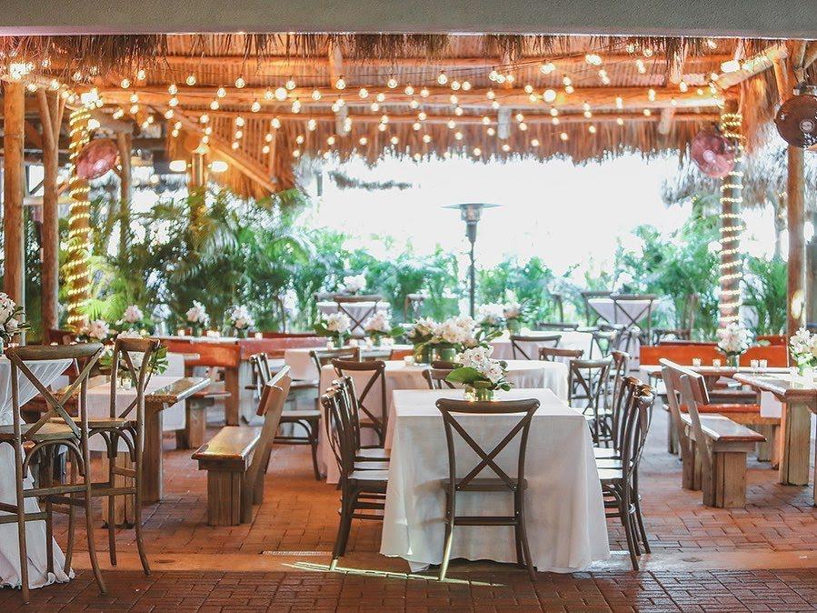 the Tiki Hut at Monty's Coconut Grove wedding venue in miami