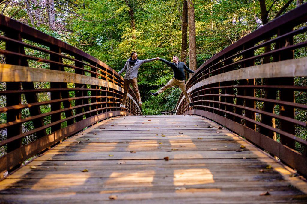 sligo creek trail engagement photo dc
