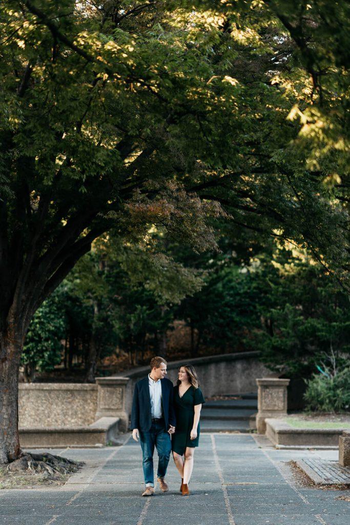 meridian hill park engagement photo dc
